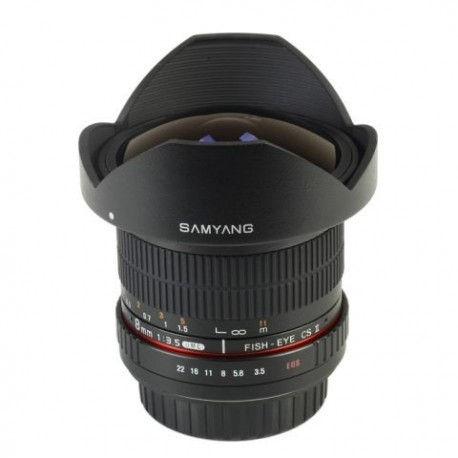 SAMYANG ojo de pez 8mm f3.5 CSII Canon